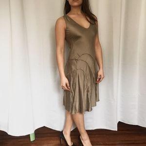 Armani Exchange Bias Cut Silk Dress